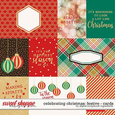 Celebrating Christmas: Festive | Cards by Digital Scrapbook Ingredients