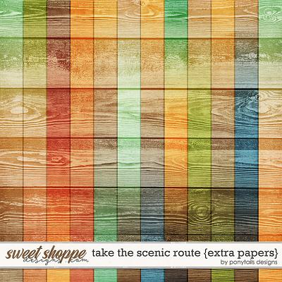 Take the Scenic Route Extra Papers by Ponytails