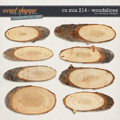 CU Mix 214 - wood slices by WendyP Designs
