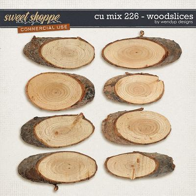 Cu Mix 226 - Wood slices by WendyP Designs