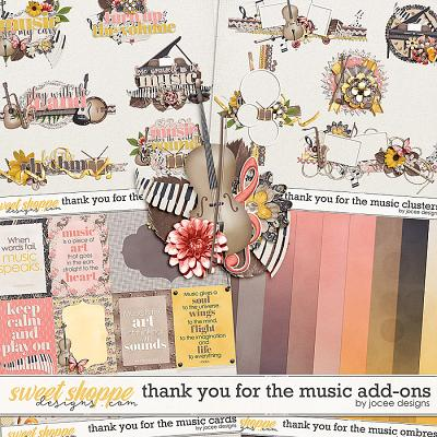 Thank you for the Music Add-ons by JoCee Designs