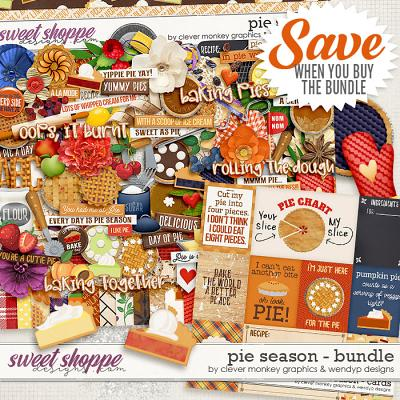 Pie Season Bundle by Clever Monkey Graphics and WendyP Designs
