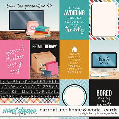 Current Life: Home & Work | Cards by Digital Scrapbook Ingredients