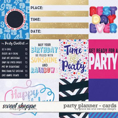 Party Planner: Cards by Grace Lee and WendyP Designs