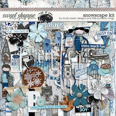 Snowscape Kit by Studio Basic and Little Butterfly Wings