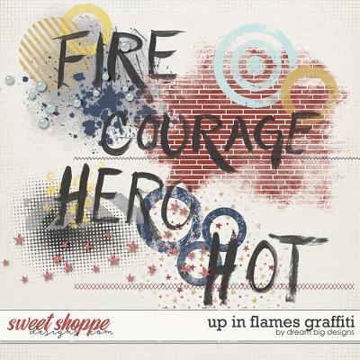 Up in Flames Graffiti by Dream Big Designs