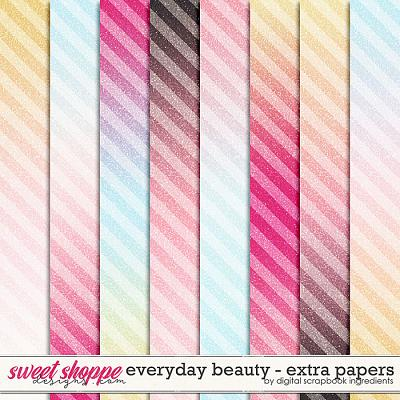 Everyday Beauty | Extra Papers by Digital Scrapbook Ingredients