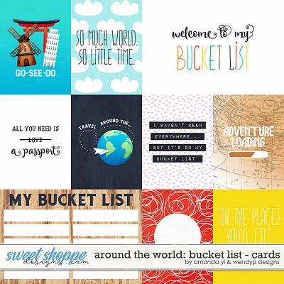 Around the world: Bucket list - Cards by Amanda Yi & WendyP Designs