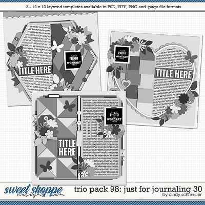 Cindy's Layered Templates - Trio Pack 98: Just for Journaling 30 by Cindy Schneider
