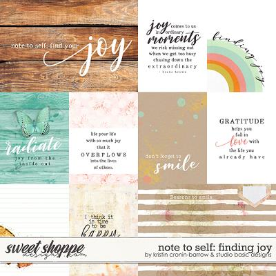 Note To Self: Finding Joy Cards by Kristin Cronin-Barrow & Studio Basic