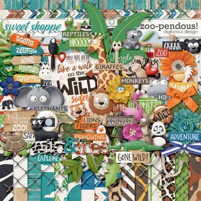 Zoo-pendous! {Kit} by Digilicious Design