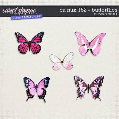 CU Mix 152 - Pink butterflies by WendyP Designs