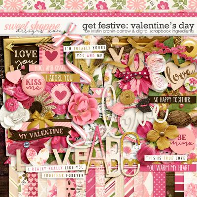 Get Festive: Valentine's Day by Kristin Cronin-Barrow & Digital Scrapbook Ingredients