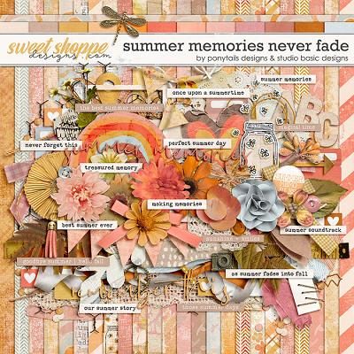 Summer Memories Never Fade Kit by Ponytails Designs & Studio Basic