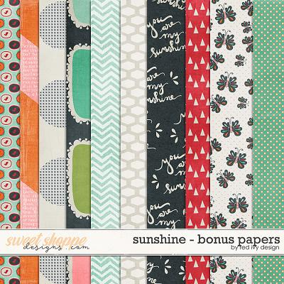 Sunshine - Bonus Papers by Red Ivy Design