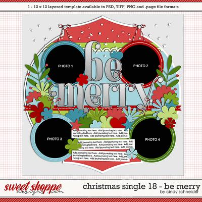 Cindy's Layered Templates - Christmas Single 18: Be Merry by Cindy Schneider