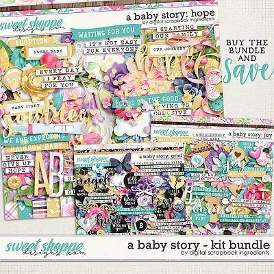 A Baby Story Kit Bundle by Digital Scrapbook Ingredients