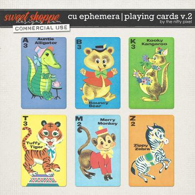 CU EPHEMERA | PLAYING CARDS V.2 by The Nifty Pixel