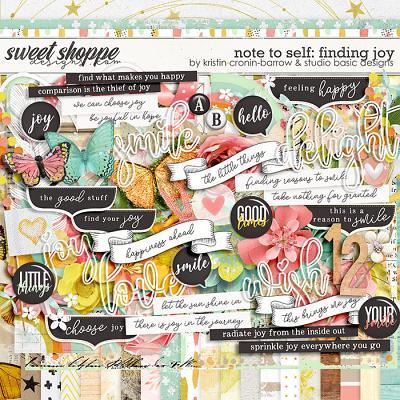 Note To Self: Finding Joy Kit by Kristin Cronin-Barrow & Studio Basic