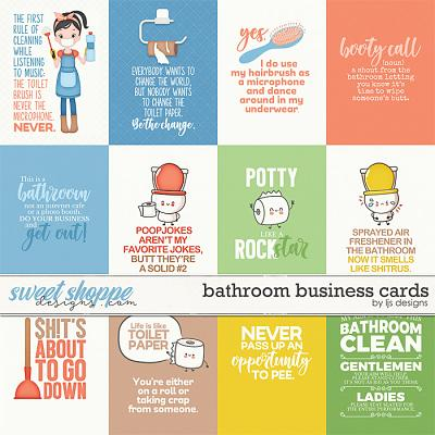 Bathroom Business Cards by LJS Designs