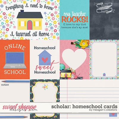 Scholar: Homeschool Cards by Meagan's Creations