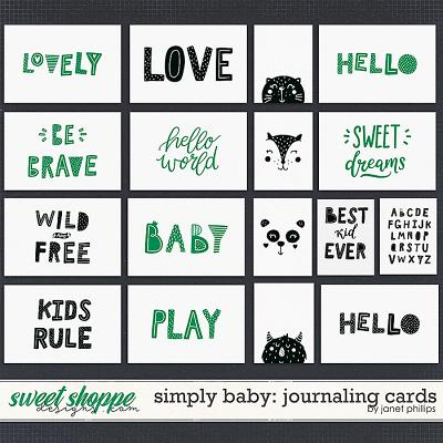 SIMPLY BABY: Journaling Cards by Janet Phillips