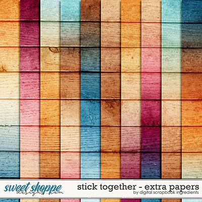 Stick Together | Extra Papers by Digital Scrapbook Ingredients