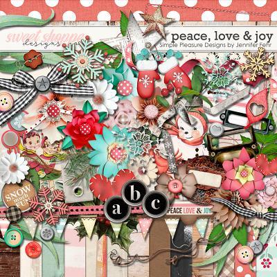 Peace, Love & Joy Kit:  Simple Pleasure Designs by Jennifer Fehr