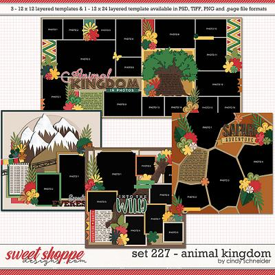 Cindy's Layered Templates - Set 227: Animal Kingdom by Cindy Schneider