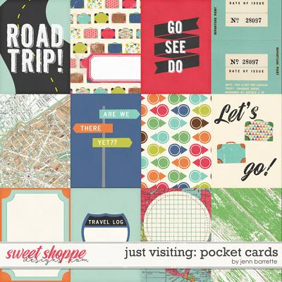 Just Visiting: Pocket Cards by Jenn Barrette