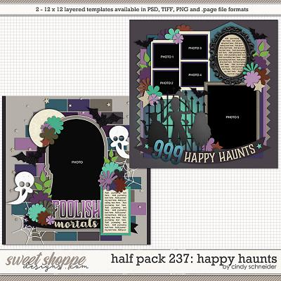 Cindy's Layered Templates - Half Pack 237: Happy Haunts by Cindy Schneider