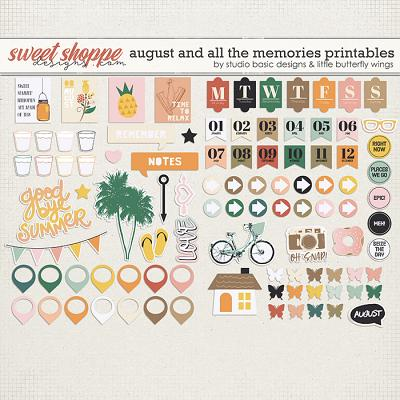 August And All The Memories... Printables by Studio Basic & Little Butterfly Wings