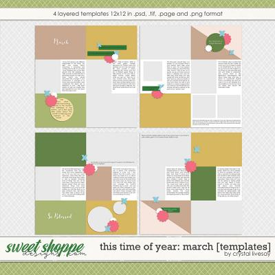 This Time of Year: March [Templates] by Crystal Livesay