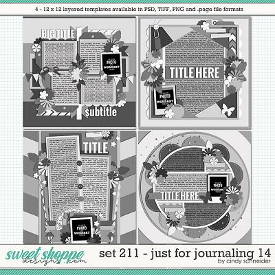 Cindy's Layered Templates - Set 211: Just for Journaling 14 by Cindy Schneider
