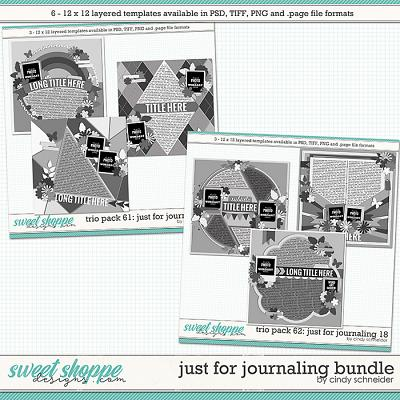 Cindy's Layered Templates - Just for Journaling Bundle by Cindy Schneider