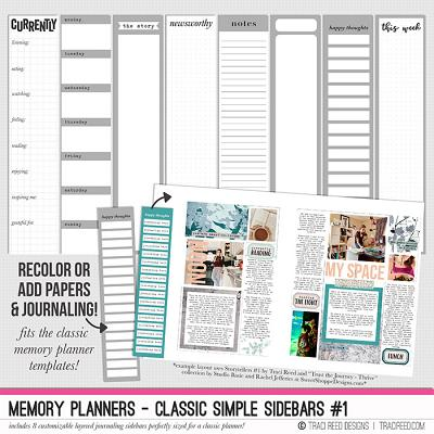 Memory Planners - Classic Simple Sidebars #1 by Traci Reed
