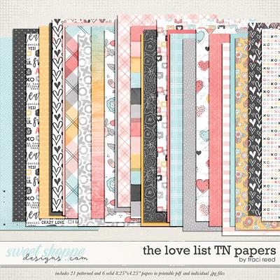 The Love List TN Papers by Traci Reed