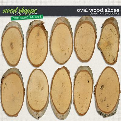 CU Oval Wood Slices by Clever Monkey Graphics