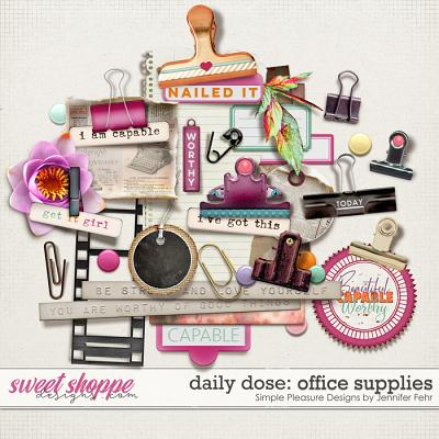 daily dose office supplies: simple pleasure designs by Jennifer Fehr