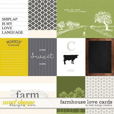 Farmhouse Love Cards by Kelly Bangs Creative