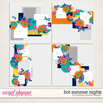 Hot Summer Nights Layered Templates by Southern Serenity Designs