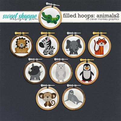 Filled Hoops - Animals2 by Clever Monkey Graphics