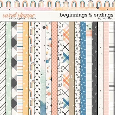 Beginnings & Endings 12x12 Papers by Traci Reed