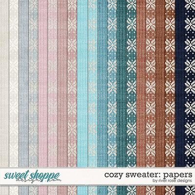 Cozy Sweater: Papers by River Rose Designs