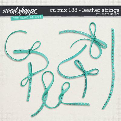 CU Mix 138 - Leather Strings by WendyP Designs