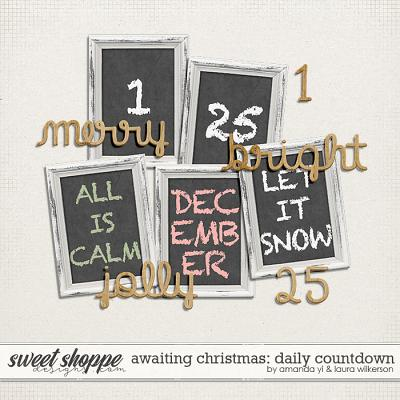 Awaiting Christmas Daily Countdown by Amanda Yi and Laura Wilkerson