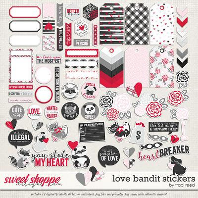 Love Bandit Stickers by Traci Reed