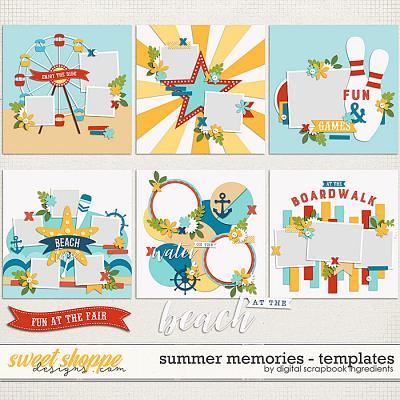 Summer Memories Templates by Digital Scrapbook Ingredients