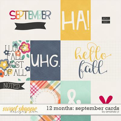 12 Months: September Cards by Amanda Yi
