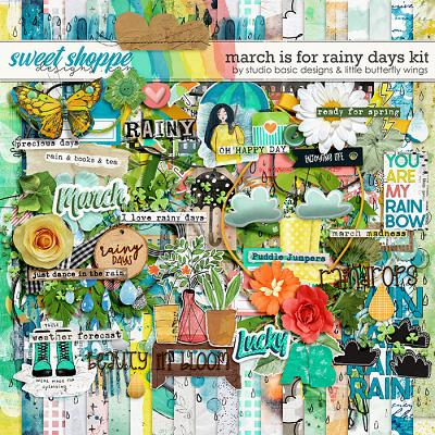 March Is For Rainy Days Kit by Studio Basic & Little Butterfly Wings